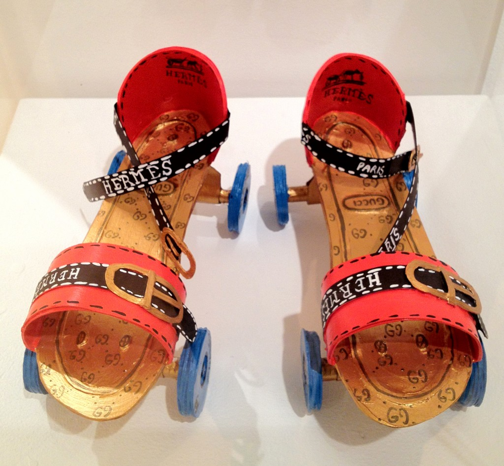 Hermes, Gucci and Chanel Rollerskates by Libby Black