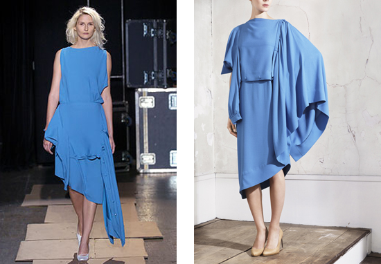 Upside Down Dress 2005 and Horizontal Dress 2012